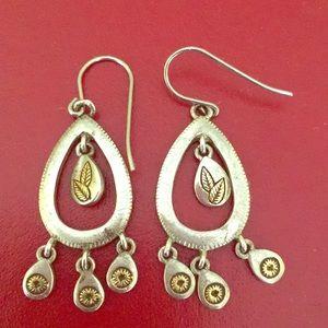 Monet Silver Earrings